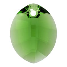 6734 23mm Fern Green Swarovski Elements Crystal Pure Leaf Pendant | Fusion Beads  #Earthday