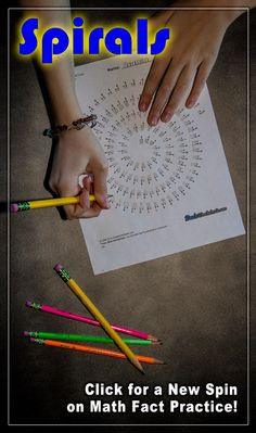 Looking for a new spin on multiplication fact practice? These spiral multiplication worksheets are a unique and fun twist. If you're tired of regular multiplication timed tests or flash cards, give these a try! Multiplication Facts Worksheets, Printable Math Worksheets, Math Facts, Multiplication Practice, Basic Math Worksheets, Multi Digit Multiplication, Free Printables, Math Fact Practice, Math Fact Fluency