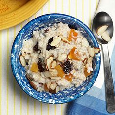 You probably never thought about this for breakfast, but you should: Breakfast Bulgur Porridge, rich with dried cherries, apricots, and almonds. | health.com