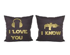 2 x I love you I Know V2 Cotton Throw Pillow Cover  by Daneeyo