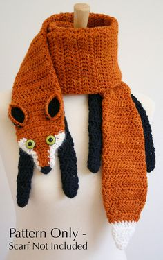 PDF Crochet Pattern for Fox Scarf  DIY by BeesKneesKnitting, $6.00