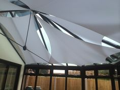 Conservatory shade sail - Design of the Month - Shade Plus Conservatory Design, Window Dressings, Shutters, Picture Show, Sailing, Solar, Sweet Home, Blinds Ideas, Shade Sails