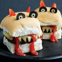 Indicaciones para Hacer Hamburguesas con forma de Monstruos. | Oh My Comida de Fiesta!