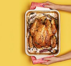 Jamie Oliver tossed in milk and lemon zest with his roast chicken, and out came a succulent masterpiece: juicy meat in a rich, tart sauce that magically comes together while the bird cooks.