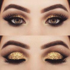 Gold glitter shadow