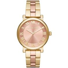 Michael Kors Watch - Ladys Watch Norie Two Tone Rose Gold/ Gold - in... (14.895 RUB) ❤ liked on Polyvore featuring jewelry, watches, accessories, analog wrist watch, dial watches, analog watches, gold watches and waterproof wrist watch