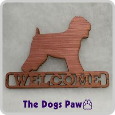 Laser Cut Soft Coated Wheaten Terrier Welcome Sign #wheatenterrier #shopthedogspaw