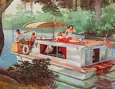 vintage Houseboat advertisment