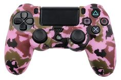 Camouflage Pink Color Silicone Case Rubber Cover For Playstation . Pink Things pink color on controller Army Camouflage, Control Ps4, Ps4 Controller Custom, Gamecube Controller, Playstation, Xbox 360, Xbox One Skin, Ps4 Skins, Ideas
