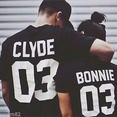 Bonnie And Clyde T Shirt Short Sleeved Couple Clothes Valentine Day Gift Tee Top