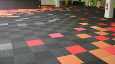 Make a Creative Flooring With Modular Carpet Tile | Home Design ... great idea for basement