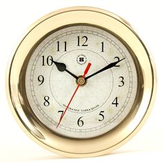 #gimme Bey-Berk Brass Clock | from hayneedle.com #gold #clock #gift #holiday #pretty #fashion