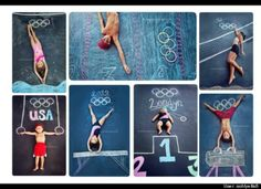 Sidewalk Chalk Props: Creative Photos Of Kids Olympic Athletes As Part Of Chalk Art Photo Illusion, Chalk Photography, Kids Olympics, Summer Olympics, Chalk Pictures, Olympic Idea, Olympic Games For Kids, Olympic Crafts, Photos Originales