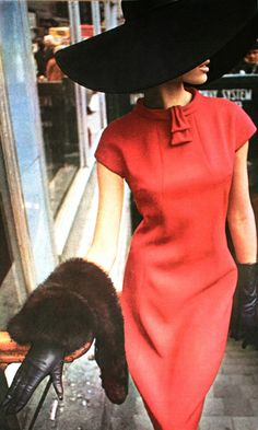 Vogue Pattern Book Autumn 1965  Veruschka is wearing a late afternoon dress