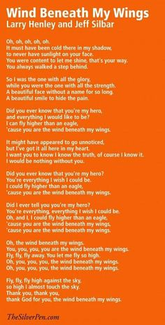 Hollye Jacobs Breast Cancer Survivor - Quotes & Inspiration - Musical Monday: Wind Beneath My Wings Great Song Lyrics, Lyrics To Live By, Music Lyrics, Music Songs, Gospel Music, Cancer Survivor Quotes, Cancer Quotes, Live Text, Breast Cancer Inspiration