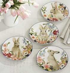 These original watercolors were created for our plates in our own art studio! #HappyEaster