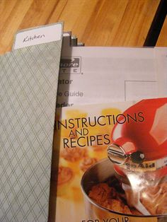 Organize your manuals and warranties. Must do this!