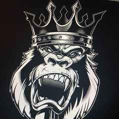 """Some minor tweaking left but done with the """"heavy lifting"""" #gorilla #vector #illustration #king #sweyda #studiolife"""