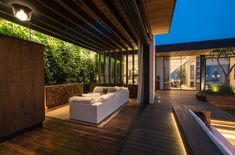 Trousdale Residence Features a Stunning Entry and Green Walls