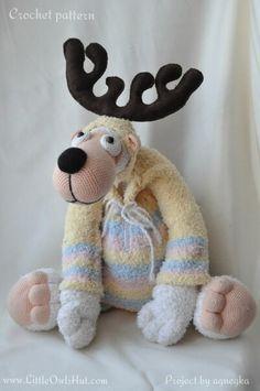 012 Teddy Bear and Pyjama - Amigurumi Crochet Pattern - PDF file by Astashova
