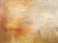 J.M.W. Turner - Sun Setting over a Lake 1840  My favorite artist. I would make a trip back to London just to visit the Tate Modern again.