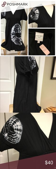 🆕BNWT BLACK TIE DYE DRESS BY ROMEO& JULIET Created by Romeo and Juliet couture this black dress features tie dye detailing. Could also be worn as a longer shirt. Brand new with tags.  Feel free to add to a bundle for a private offer. You only need one item added to a bundle for me to send an offer. If you like it great, if not no worries! Buy with confidence... top seller, 5 star rated, posh ambassador. Thanks for stopping by❤️ Romeo & Juliet Couture Dresses