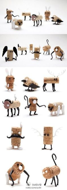 make cork creatures, these are so creative, I need to make some. Found on http://www.notcot.com