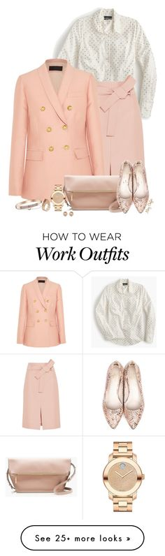 """Practical and Pretty"" by mcheffer on Polyvore featuring мода, J.Crew, Beyond Skin, Michael Kors, Movado, Ludevine и rosegold"