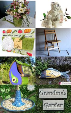 In the Garden by Sally Grayson on Etsy--Pinned with TreasuryPin.com