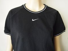 JUST DO IT // Vintage 90s Nike Shirt Ringer Tee by lessthanzero