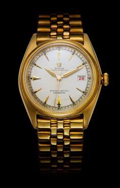 Rolex Datejust in 1945 Rolex Wrist Watch, Trendy Watches, Rolex Gmt Master, New Rolex, Expensive Watches, Vintage Rolex, Oyster Perpetual, Rolex Submariner, Bracelet Making