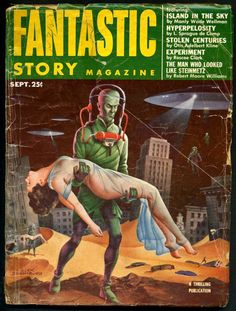 Fantastic Story Magazine - Cover Art by Walter Popp