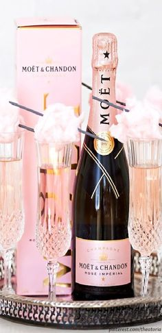Champagne bottles are so beautiful, especially pink ones -M
