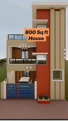 2 Storey House Design, Duplex House Design, House Front Design, Small House Design, Modern House Design, 2bhk House Plan, Model House Plan, Small House Plans, Architect Design House