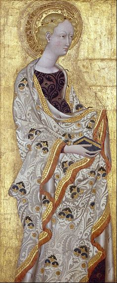 1433/42.Saint Catherine.by Giovanni di Paolo (1403-82) Museum of Fine Arts, Houston,Texas, USA.
