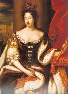 Mary II (30 April 1662 – 28 December 1694) reigned as Queen of England and Ireland from 13 February 1689, and as Queen of Scots (as Mary II of Scotland) from 11 April 1689 until her death.