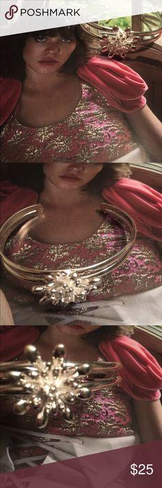 Sterling silver flower cuff bracelet Sterling silver flower cuff bracelet sterling silver Jewelry Bracelets