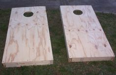 DIY Cornhole Boards: Perhaps get my father-in-law to build and then I could paint. Hmmm.