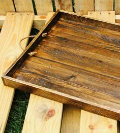 Reclaimed Wood Serving Tray- I love the idea of this, a way to decorate the table that's easily cleared away