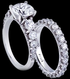 Mark Patterson Engagement Ring and Band.