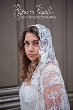 Voile mariage rétro  Voile de dentelle  par Bijouxenpagaille, €120.00