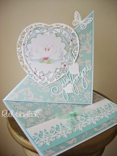 Blog tonic: Swan easel card - a post from RUTH