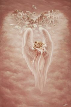 Guardian Angel by christopherpollari traditional art paintings fantasy .