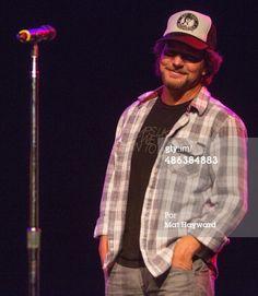 Singer Eddie Vedder of Pearl Jam performs on...