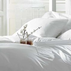 10 Simple Ingredients For A Very Comfortable Bed. Egyptian Cotton SheetsWhite  ...
