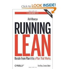 Drawing from the Lean Startup and other methods, Running Lean helps entrepreneurs transform flawed Plan A ideas into viable companies. Running Lean author Ash Maurya explains the basics in this interview. Plan A, How To Plan, Lean Startup, Books To Read, My Books, O Reilly, Start Ups, Inspirational Books, Up And Running