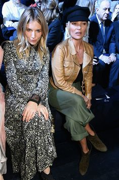 Kate Moss and Sienna Miller attend the Christian Dior show as part of the Paris Fashion Week Womenswear Fall/Winter 2017/2018 on March 3 2017 in...