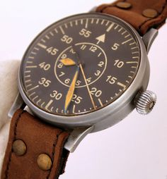 Laco Lacher CO II WW 1942 Germany Luftwaffe Pilot Aviator Watch FI 23883 TOP | eBay