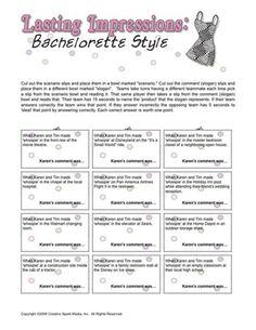 Bachelorette Party Game
