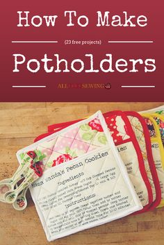 So many cute potholders to sew!